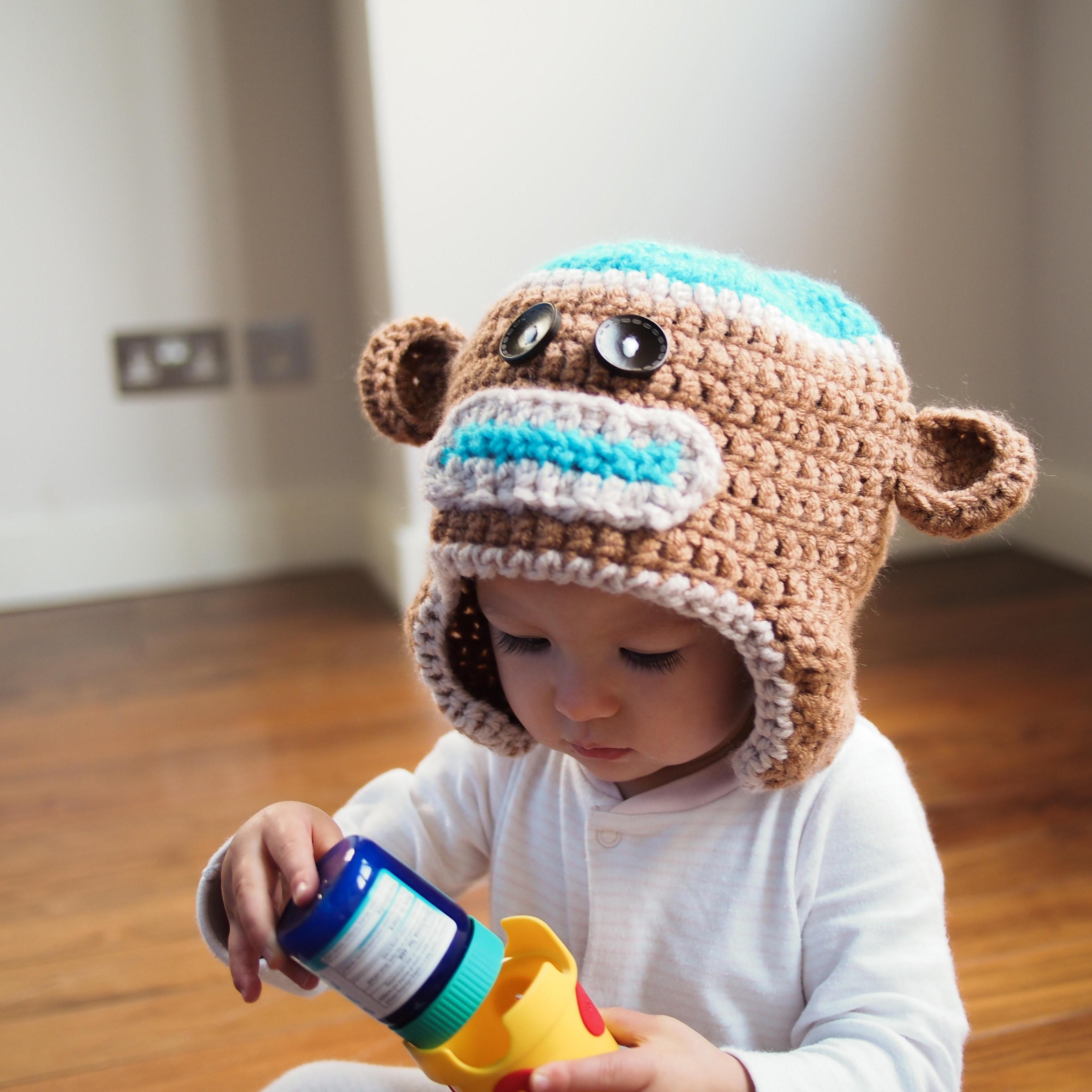 Cris Crochet sock monkey hat