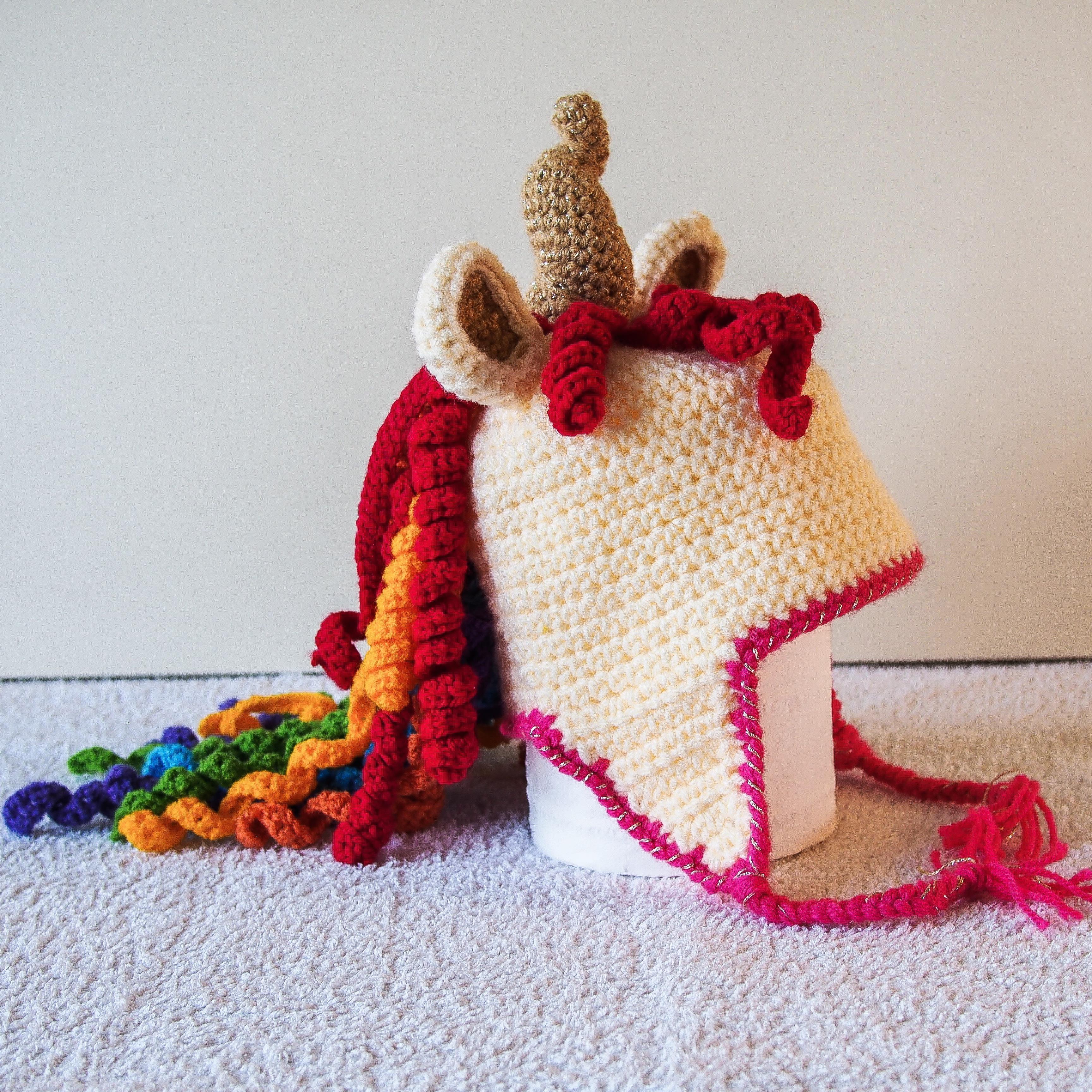 queen rainbow unicorn hat