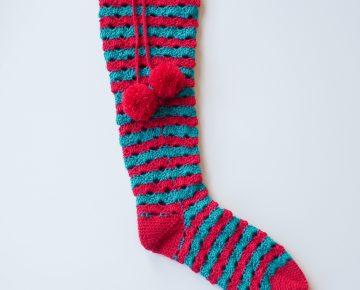 crochet christmas socks