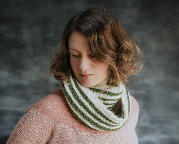 green stripe infinity scarf